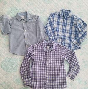 Three size 5 boys Carter's button down shirts